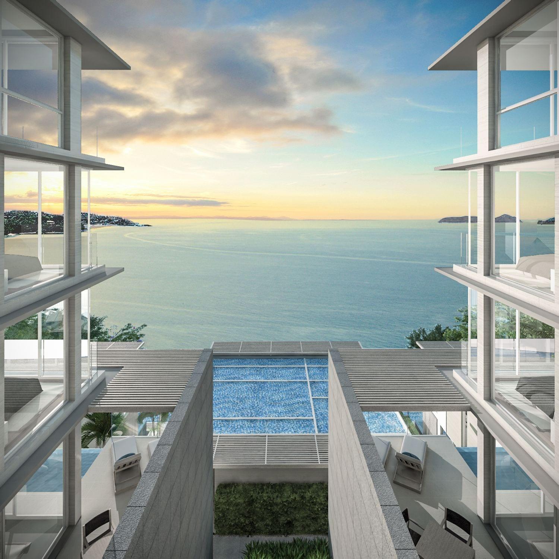 Beachfront Ocean View Sky Villas, Ao Yon, 2 Br