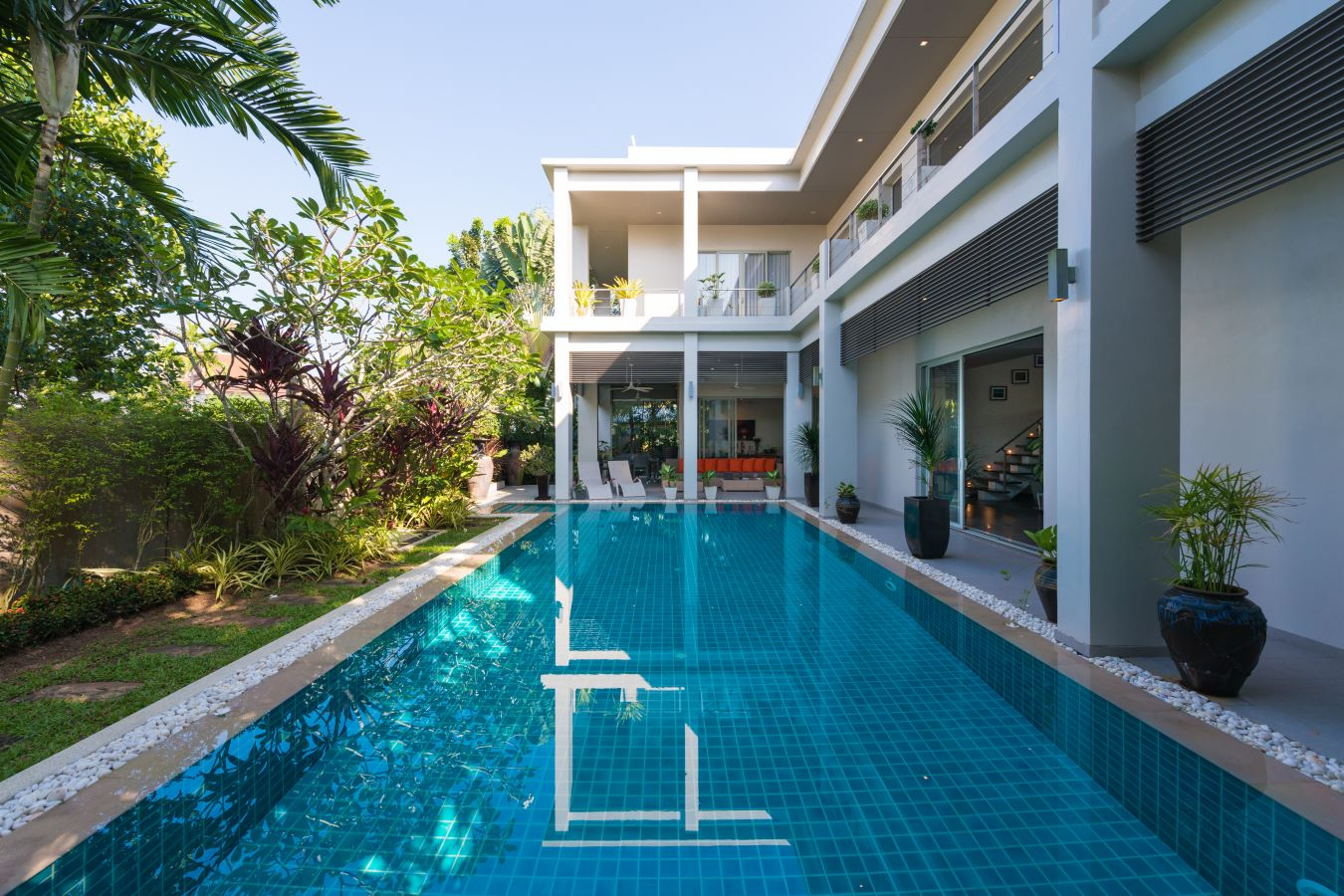 Solar Power Modern 4 Bed Family Pool Villa in Layan For Sale (Non-Estate)